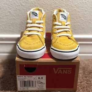 Toddlers Yellow Vans high top